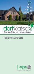 dorfklatsch - Frühjahr/Sommer 2016
