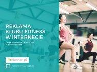 Reklama klubu fitness w internecie