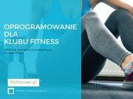 Oprogramowanie dla klubu fitness