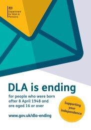 DLA is ending