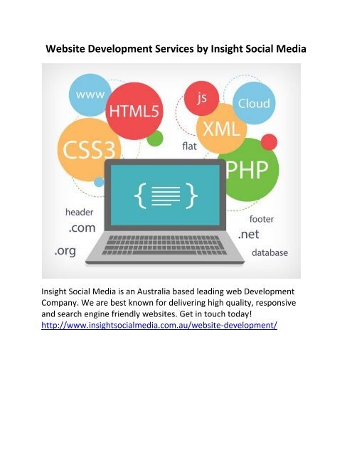 Website Development Services by Insight Social Media