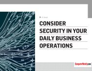 CONSIDER SECURITY IN YOUR DAILY BUSINESS OPERATIONS