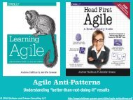 Agile Anti-Patterns