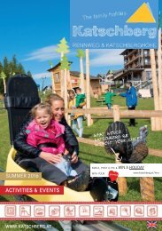 Activity-Program Katschberg summer 2016