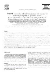 AMSTAR is a reliable and valid measurement tool to assess the ...