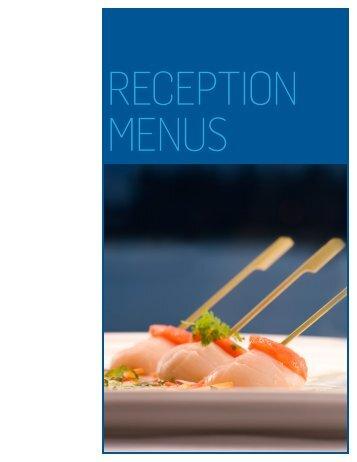 reception menus - Vancouver Convention Centre