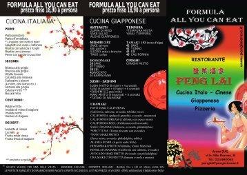 FORMULA ALL YOU CAN EAT prezzo fisso 18,90 a persona ...