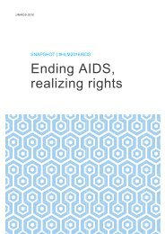 Ending AIDS realizing rights