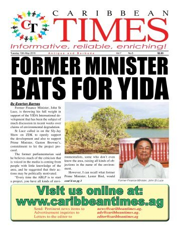 Caribbean Times 6th Issue - Tuesday 10th May 2016
