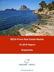 IBIZA Prime Real Estate Market 1Q 2016 Report Snapshots