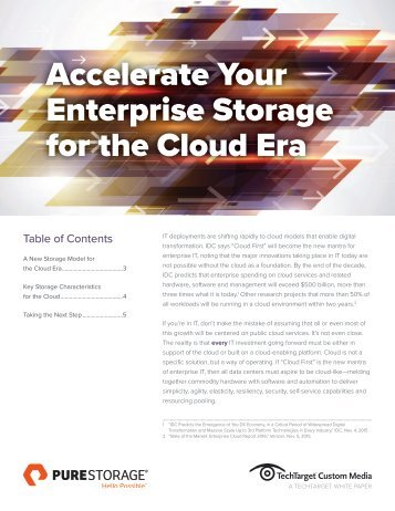 Accelerate Your Enterprise Storage for the Cloud Era