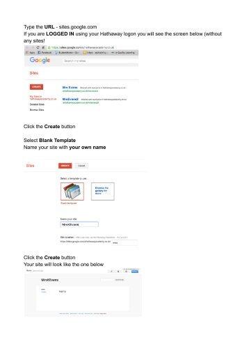 Website setup - Google Docs