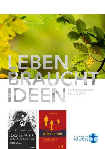 Verlagsverzeichnis Herbst 2016
