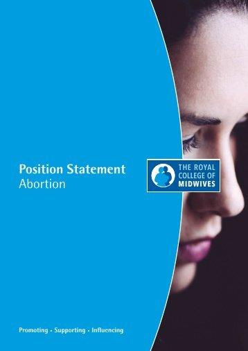 Position Statement Abortion