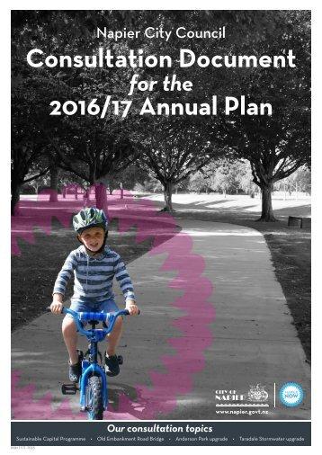 Consultation Document 2016/17 Annual Plan