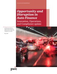 Opportunity and Disruption in Auto Finance