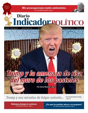 Trump y la amenaza de risa del muro de los pasteles