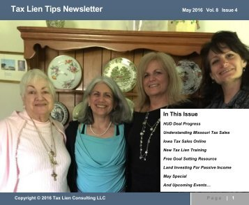 Tax Lien Tips Newsletter