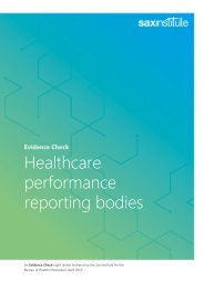 performance reporting bodies