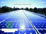 Solar PV Installation in Dorset - Dorset Electrical Solutions Ltd