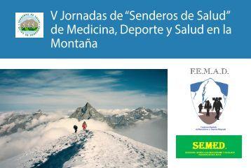"""V Jornadas de """"Senderos de Salud"""" de Medicina Deporte y Salud en la Montaña"""