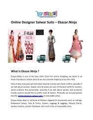 Online Designer Salwar Suits   Salwar Suits For Women   Ebazar.Ninja