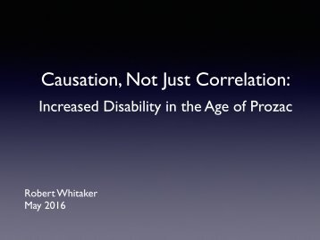 Causation Not Just Correlation