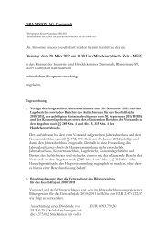 Hauptversammlung - ISRA VISION AG