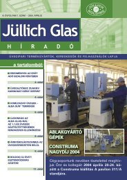 ablakgyártó gépek construma nagydíj 2004 - Jüllich Glas Holding Zrt.