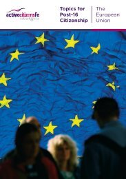 Topics for Post-16 Citizenship The European Union