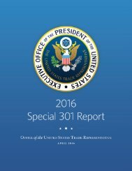 2016 Special 301 Report