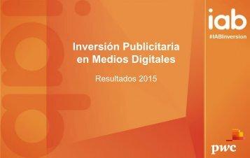 Inversión Publicitaria en Medios Digitales