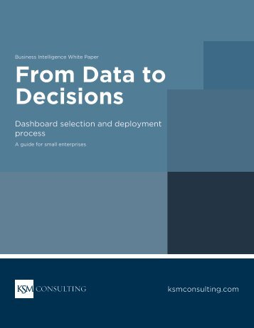 From Data to Decisions