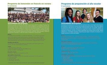 Programas y tarifas 2016-2017