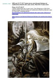 USD usd 12.77-19.77 www eevve com Alucard fantasy art castlevania artwork skin case cover, iPad mini 4 case cover