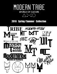 Modern Tribe 2016 Spring/Summer catalog