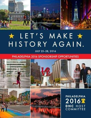 PHILADELPHIA 2016 SPONSORSHIP OPPORTUNITIES