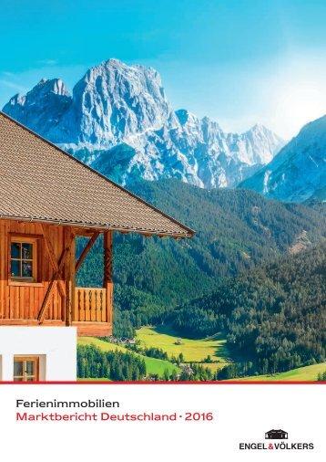 Ferienimmobilien Marktbericht Deutschland · 2016