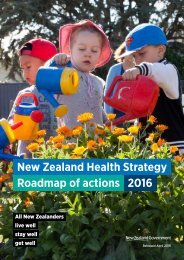 New Zealand Health Strategy Roadmap of actions 2016