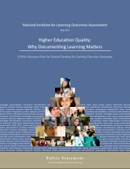 Higher Education Quality Why Documenting Learning Matters