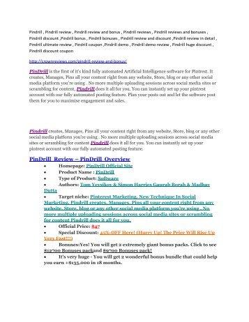 Pindrill review & huge +100 bonus items