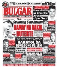 May 12, 2016 BULGAR: BOSES NG PINOY, MATA NG BAYAN