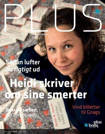 Magasinet PLUS - Maj 2016 - Heidi skriver om sine smerter