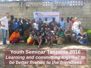 Youth Seminar Tanzania 2016