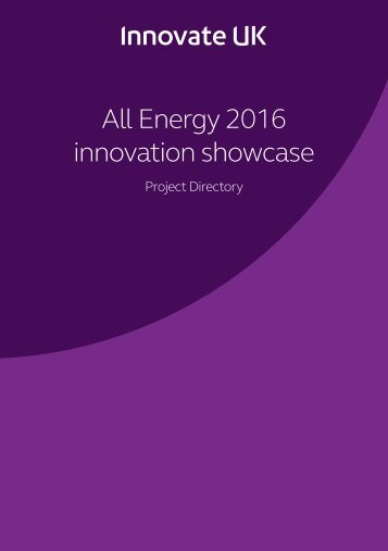 All Energy 2016 innovation showcase