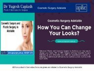 Cosmetic Surgery Adelaide - How You Can Change Your Looks?