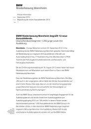 BMW Niederlassung Mannheim - BMW Niederlassung Stuttgart