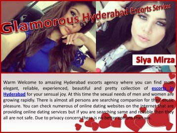 Glamorous Hyderabad Escorts Services