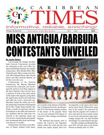 Caribbean Times 7th Issue - Thursday 12th May 2016