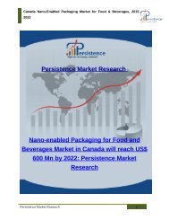 Canada Nano-Enabled Packaging Market for Food & Beverages, 2015 - 2022